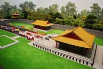 清代皇帝祭祀祭天泥塑模型