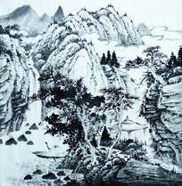 传统山水画国画