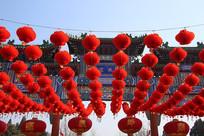 大红灯笼高高挂地坛庙会