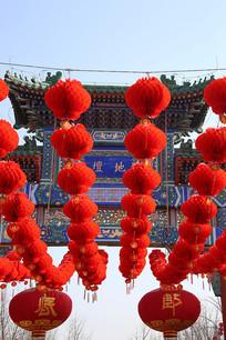 红灯笼高高挂地坛庙会