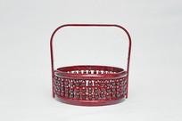 红色竹篮子食盒