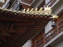 静安寺屋檐横构图