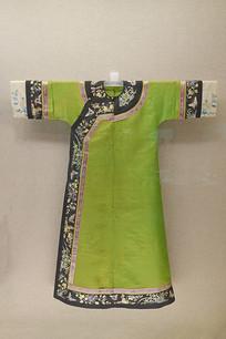 清代满族绿纱旗袍