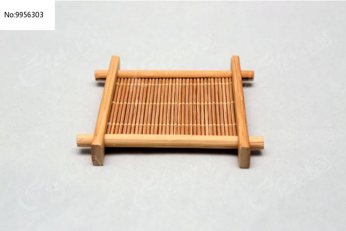 手工编织茶托盘图片