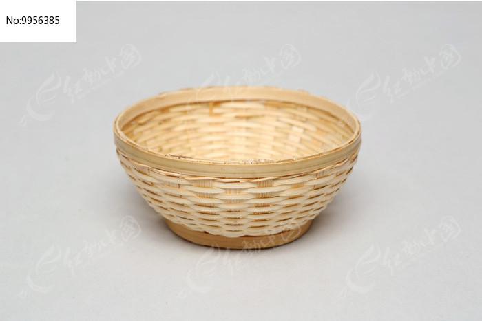手工编织工艺品竹碗图片
