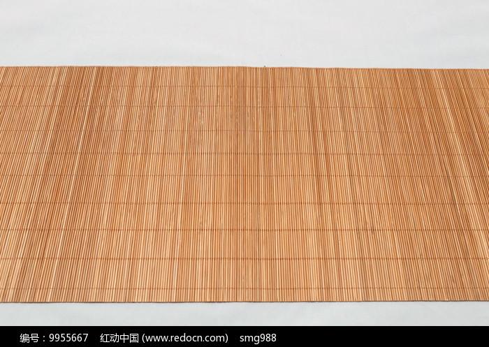 手工编织小竹席垫子图片