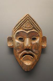 西藏藏族木雕鬼王面具