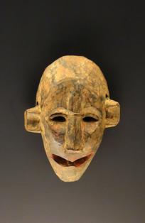 西藏藏族木雕随奴面具