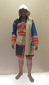 西双版纳基诺族织花镶边女服