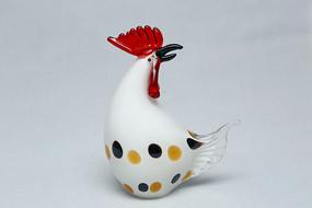 玻璃工艺品芦花大母鸡