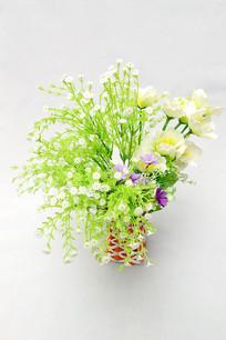 花瓶塑料干花