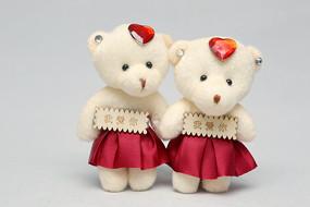 一对我爱你小熊毛绒玩具