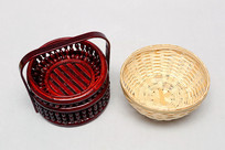 竹碗和竹木提篮