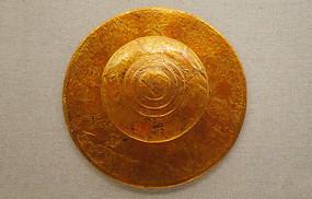 清代甘肃藏族彩绘漆平顶帽