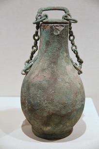青铜壶汉代带链盖