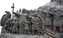 成吉思汗广场母亲与孩子雕像