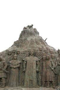 鄂尔多斯广场大汗与公主雕像