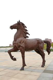 骏马蒙古马雕像