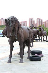 蒙古马雕像蒙古马雕像