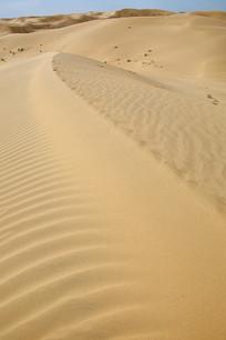 沙漠风光沙峰分水岭自然流纹