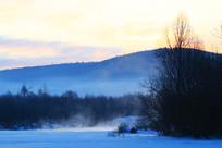 冰河早晨冷空气风景