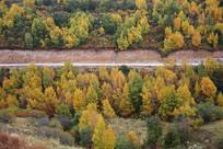多彩山林秋色美景公路