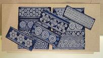 贵州镇宁布依族蜡染袖片