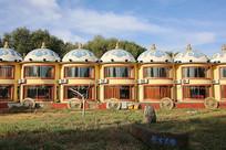 蒙古包式样联排宾馆