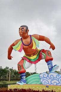 蒙古族摔跤手