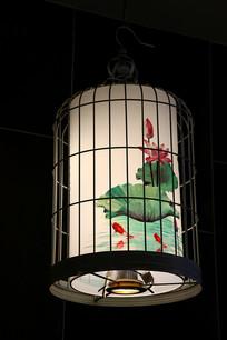 鸟笼荷花灯笼