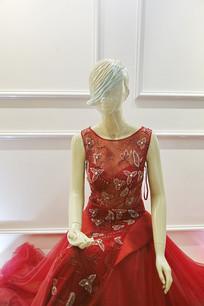 女款红色长裙