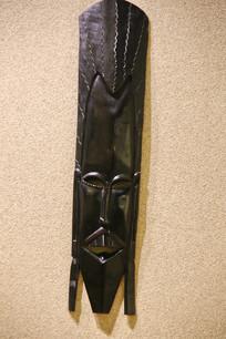 非洲木雕挂盘女人头像