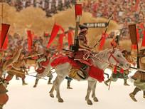 骑马射箭日本古代武士