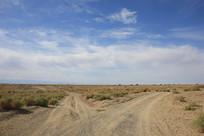 大西北戈壁砂石公路
