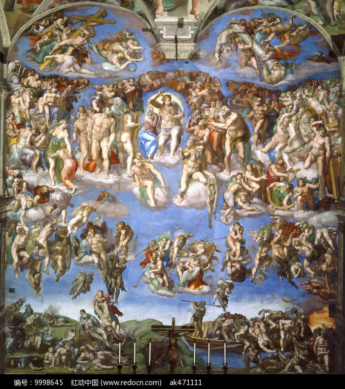 米开朗基罗壁画-最后的审判 图片