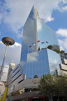 上海南京路玻璃幕墙海仑宾馆