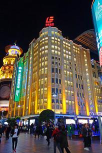 上海南京路百联集团大楼灯光