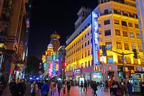 上海南京路灯光夜景