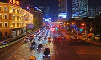 上海西藏南路灯光夜景