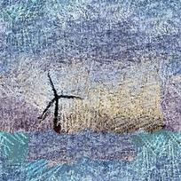 抽象风车油画