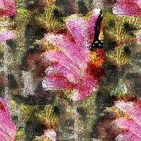 抽象花朵特写油画