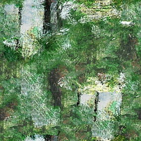 绿色抽象油画装饰画