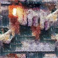 手绘抽象装饰油画