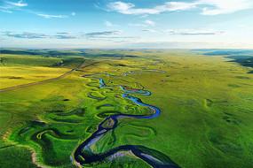 草原曲水莫日格勒河