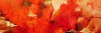 红色抽象艺术装饰画