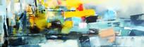 色块抽象艺术油画