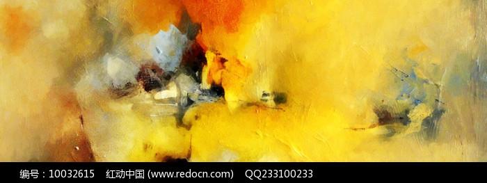 现代客厅客房床头抽象油画图片