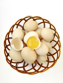 一筐鸡蛋蛋黄