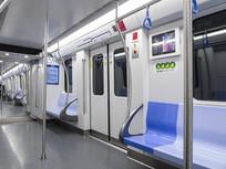 上海地铁车厢内部摄影图