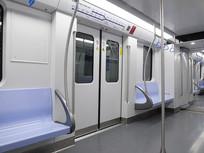 上海干净整洁的地铁车厢